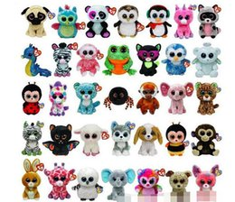 Wholesale Video Games Simulation - TY beanie boos Plush Toys simulation animal TY Stuffed Animals super soft 6inch 15cm children gifts 130pcs