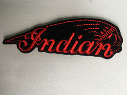 Wholesale Indian Stitch - Indian Motorcycle iron on Jacket, Hat, Bag, Leather cloth Patch, American, Bikers Free Shipping Custom 100%emb Stitches High quanlity badge