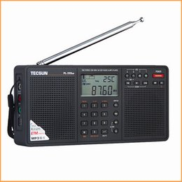 Wholesale Rechargeable D - Wholesale-2016 New Arrival Tecsun PL-398MP Portable Radio fm Stereo has MP3 Playback Function(With SD Card Slot ) Full-band Stereo Radio
