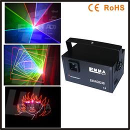 Wholesale Ilda Rgb - Wholesale-1.5w RGB laser 3D animation scanner projector ILDA DMX dance bar Xmas Party Disco DJ effect Light stage Lights Show system