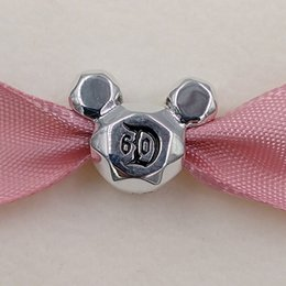 Wholesale Anniversary Angels - Authentic 925 Sterling Silver Beads Miky Mouse 60Th Anniversary Charm Fits European Pandora Style Jewelry Bracelets & Necklace