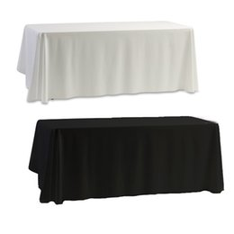 Wholesale Hot christmas tablecloth Nappe Table Cover table cloth White Black for Banquet Wedding Party Decor x145cm