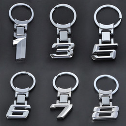 Wholesale metal key ring holder - Car Styling New Wholesale Zinc Alloy Metal Car Logo Chaveiro Keychain Key Chain Key Ring Keyring For BMW 1 3 5 6 7 X Key Holder