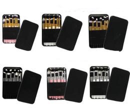Wholesale Mini Eyeshadow Brushes - Tools Makeup Professional Brush set Foundation Powder Blush eyeshadow 10pcs Mini Size Brushes Black White Pink Iron Box DHL