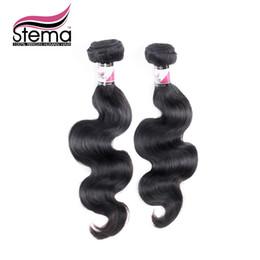 Wholesale Tangle Free Weave Cheap - Wholesale-2pcs lot Brazilian Virgin Hair Body Wave Free Shipping Unprocessed 3.5 oz pc No Tangle No Shedding Cheap Extension Human Hair
