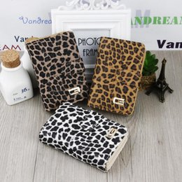 Wholesale Leopard Print Pu - Trendy Multifunction Handbag Notecase PU Leather Short Design Leopard Print Wallet Zipper & Hasp Lady Card Holders Coin Purse for Women
