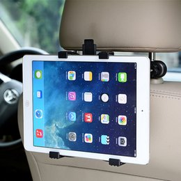 Wholesale Dvd Car Holder - DHL Mobile Phone Tablet PC Car Holder Stand Back Auto Seat Soporte Headrest Bracket Support Accessories for GPS DVD iPad 1 2Mini pro