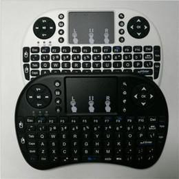 2019 touchpad de teclado sem fio para pc Versão em inglês Mini Rii i8 Teclado Sem Fio Controle Remoto Touchpad teclado Touch pad mouse Retroiluminado Combo para caixa de Tv tablet mini pc novo desconto touchpad de teclado sem fio para pc