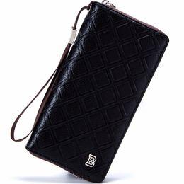 Wholesale men flip phone - Wholesale- New 2017 Men Wallets Famous Brand Long Clutch Wallet Hand Bag with Flip Up ID Window Purse Male Money Purses Zipper Coin Bag