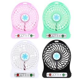 Wholesale Mini Usb Desk Fans - Wholesale- New Portable Fan Mini USB Desk Fan Li-ion Battery Rechargeable Multifunctional Fan 3 Gear