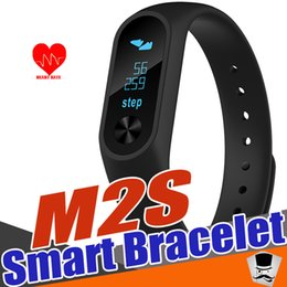 Wholesale Used Pc Monitors - M2S Smart Bracelet OLED Display Message content Heart Rate Monitor Smart band Health Fitness Tracker Smart Wristband for Android iOS 1 pcs