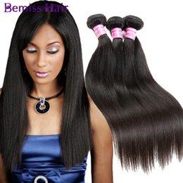 Самые популярные волосы онлайн-Малайзийский Камбоджийский Монгольский Бразильский Индийский Перуанский Девственные Человеческие Волосы Плетет 4 Пучка Bemiss Естественный Цвет Прямые Самые Популярные Волосы