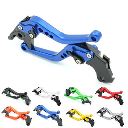 Wholesale Motorcycle Levers Suzuki Gsxr - Motorcycle CNC Long Short Handlebars Clutch Brake Levers w  Adjusters for Suzuki GSXR GSX-R 600 750 1000 1300 HAYABUSA SV650