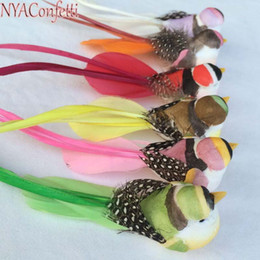Wholesale Decor Clips - Nyac ,12Pcs ,12*3*3.5Cm 6Colors Mini Decorative Foam Feather Artificial Craft Birds With Clip  Magnet  Foot ,Diy For Home Decor ,Party