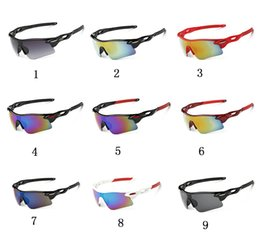 Wholesale Glass Night Vision - 19 colors Wholesale Cycling night vision glasses Designer Outdoor Men Woman Sport Bicycle Sunglasses TR90 Goggles Eyewear Gafas Ciclismo