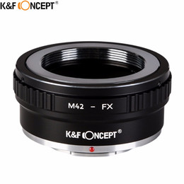 Wholesale Screw Lens Camera - Wholesale- K&F CONCEPT M42-FX II DSLR Camera Lens Mount Adapter For M42 Screw Mount Lenses to Fujifilm FX Lens X-series Microless camera