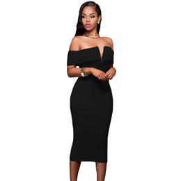 Wholesale Strapless Short Casual Dress - Fashion bodycon dresses women Deep V neck sleeveless evening party dresses beautiful women elegant socialite prom dress sexy 2017 new