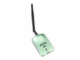 Cartão sem fio de alta potência on-line-Atacado-Alfa USB AWUS036H Chipset Ralink3070L 2000mW Wireless N USB Adapter 150Mbps Sem Fio USB Wi-fi Placa De Rede De Alta Potência