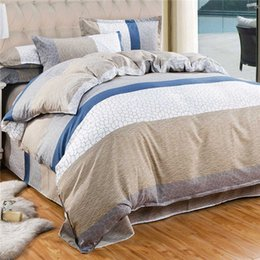 Wholesale Cotton Leopard Sheets - Bedding Set Cotton Cover Bed Sheet Duvet Cover Sets Comforter Farmhouse Style Bedding Sets Leopard Leaf love 4pcs set stripe