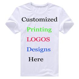 Wholesale T Shirt Heat Transfers - custom printing DIY logo T-shirt text name Photos design customize promotional logo Silk Screen Digital Heat transfer Print tees Shirt china