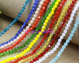 Wholesale 4mm Green Jade - Free Shipping! 4mm Multi colour Bicone FACETED crystal glass beads faceted LOOSE beads jade colors