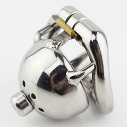 Wholesale Chastity Urethra Ring - Stainless Steel Stealth Lock Male Chastity Device Cock Cage with Urethra Fetish Penis Lock Cock Ring Chastity Belt Sex Toys