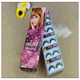 Wholesale Eye Hair Band - SHILINA 3050 Natural Mink False Eyelashes 1 pair Long Eyelash High Quality Fake Eye Lashes Extension Band Makeup