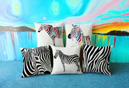 cebra almohada decorativa para el sofá o el coche creativo cojín de decoración del hogar con doble cara impresión de lino algodón funda de almohada 17.7 pulgadas desde fabricantes