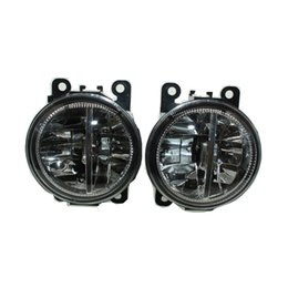 Wholesale Ford Front Bumpers - 2pcs Car Styling Round Front Bumper LED Fog Lights DRL Daytime Running Driving fog lamps For CITROEN C4 Picasso UD_ MPV 2007-2015