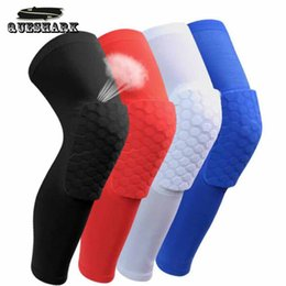 Wholesale Football Padding - 1PCS Breathable Basketball Football Sports Knee Pads Honeycomb Knee Brace Leg Sleeve Calf Compression Knee Support Protection