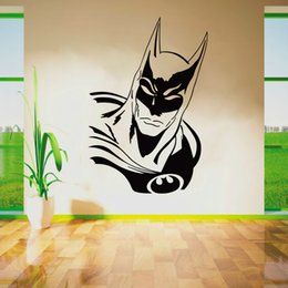 Wholesale Childrens Cartoon Stickers - F20 BATMAN SUPERHERO Vinyl Wall Art Sticker Poster Wallpaper Childrens Themed Room Decals Wall Stickers Free Shipping