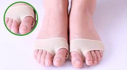 Wholesale Cushioned Ankle Socks - 1 Pair Lot Foot Care Hallux Valgus Toe Protector Gel Sleeve Toe Cushion Toe Braces Sock Metatarsal Strap