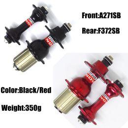 Wholesale Novatec A271sb F372sb - Hot Sale Novatec 271 372 Hubs Front A271SB 20 Holes Rear F372SB 24 Holes Color In Black&Red About 350g Road Bike Bicycle Hubs