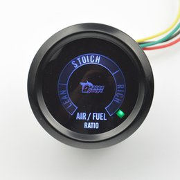 Wholesale ratio digital - Wholesale- New 52mm Color backlight Car Motor Digital LED Air Fuel Ratio Gauge Autogauge Lean SToich Rich Free Shipping