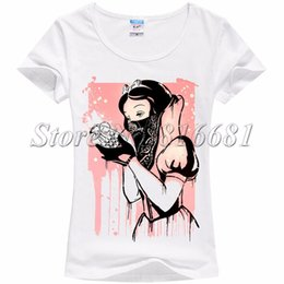 Wholesale Princess Tee Shirts - Wholesale-New 2016 Summer funny Print T shirt Women Funny Cool princess Design Retro Short Sleeve Punk Rock Shirt Tshirt Tops Tees