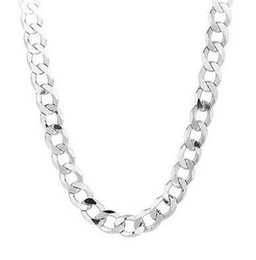 """Wholesale 14k Figaro Chain Necklaces - 925 Sterling Silver Figaro Curb Link chain Necklace 20"""" 3 mm 4.9 grams FIG080925 Sterling Silver Comfort Curb 22"""" 8.7 MM 48 GRAMS chain Neck"""