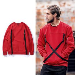 Wholesale Red Webbing - 2017 men new Original Japanese harbor wind retro round neck cashmere Sweatshirts men Webbing hedging hoodie Hip Hop pullover Sweater