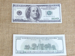 Wholesale Money Draw - 2017 100PCS $100 Learning Dollars Trainings Banknotes Bank Staff Training Banknotes Christmas Gifts Collect for Home Decor Arts Crafts