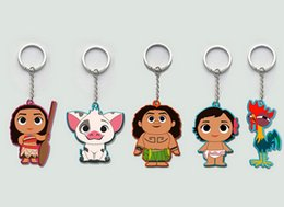 "Wholesale Pigs Animals - Moana Adventure Collection keychains 2.5"" Moana Maui Hei Hei Pig Pua PVC keychains 5 styles"