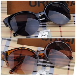 Wholesale Inspire Man - Wholesale- Fashion Cat Eye Sunglasses Women Vintage Semi-Rimless Sun Glasses Gafas Inspired Round Circle Sunglass oculos de sol feminino