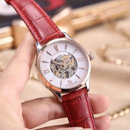 Wholesale Women Mechanical Watch Sale - Hot sale AAA women watches Luxury brand Genuine Leather Strap automatic mechanical wrist watch For ladies girl best gift clock relojes mujer