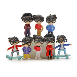 Wholesale Detective Conan Toy - Action Figures Detective Conan more modeling DIY white on the micro-landscape multi-meat landscape doll Toys Gifts Anime Manga