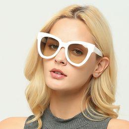 Wholesale Sexy Lens - Brand Luxury Cat Eye Women Sunglasses Stylish Mirror Lens Women's Sun Glasses Sexy Female Eyewear Oculos De Sol UV400