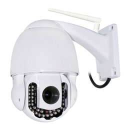 Wholesale 3x Ptz Ip Camera - IP Camera Outdoor Waterproof Security System Wireless 720P 3X 42LED WIFI PTZ Night Vision