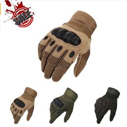 Wholesale Glove Paintball - camp glove game Brand Tactical Gloves Army Paintball Airsoft Outdoor tactial Police Carbon Full Finger Type Camping Gloves Gym Gl