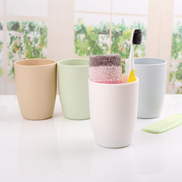 Wholesale Tooth Brush Cup - Hot 4 colors PP Lover Cup Mugs 201-300ml Simple fashion gargle suit plastic brush my teeth cup lovers new toothbrush wash gargle water