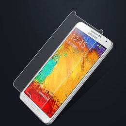 Wholesale Phone Covers Stickers - HD Tempered Glass Screen Protector For Samsung Note 4 5 inch Protection Cover Protective Glas Film Sticker On The Mobile Phone