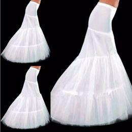Wholesale Bridal Hoop Petticoat Fishtail - In Stock Free shipping Mermaid Wedding Dress White 2-Hoop Bridal Wedding Petticoat Fishtail Bridal Petticoat Crinoline