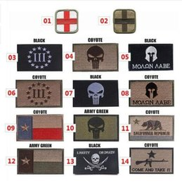 Canada Le Punisher / Texas / Croix Rouge Broderie 3D Patch Brassard Crâne Tactique Vêtement En Plein Air Props Badge Patchs 8 * 5 cm Offre
