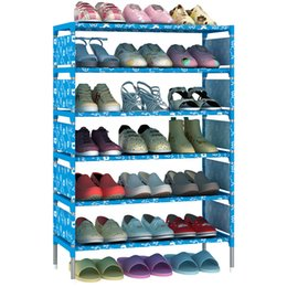 Wholesale 21 Shoes Wholesale - Shoe Cabinet Non Woven Fabric Bedroom Sundries Multi Function Storage DIY Shoes Shelf Practical Home Furniture 21 9js F R